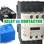 relay vs contactor